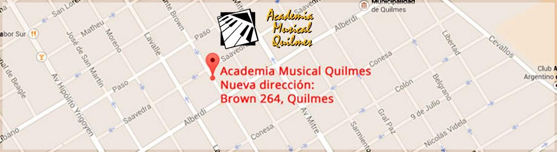 Academia Musical Quilmes Nuevo Domicilio Brown 264, Quilmes